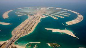 جزایر پالم دبی از نمای بالا